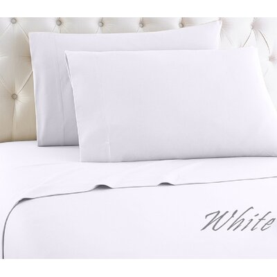Crosland 1000 Thread Count Quality Cotton Sheet Set Size: King, Color: White