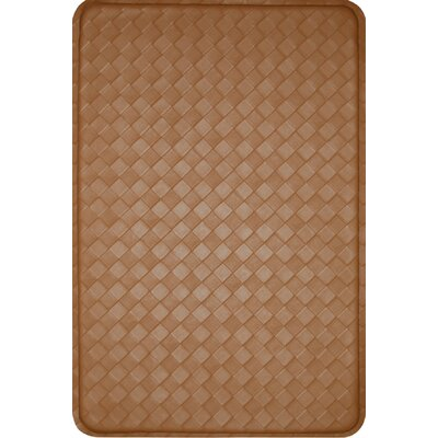 Feel At Ease Kitchen Mat Color: Khaki/Red