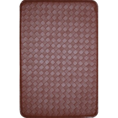 Feel At Ease Kitchen Mat Color: Brown