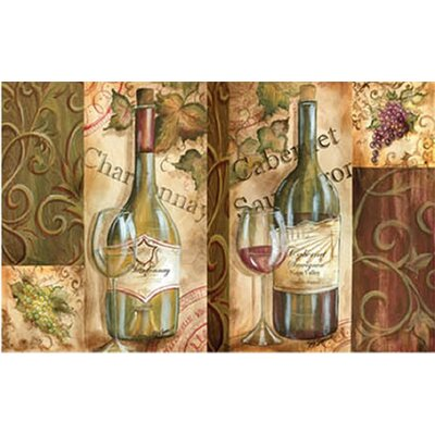 Oversized Designer Chef Napa Wine Colleage Kitchen Mat