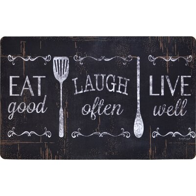Oversized Designer Chef Eat Laugh Live Kitchen Mat