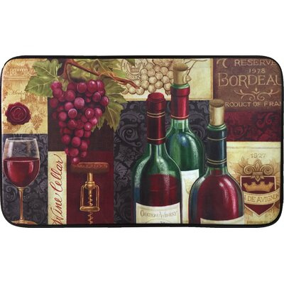 Oversized Designer Chef Favorite Reds Kitchen Mat