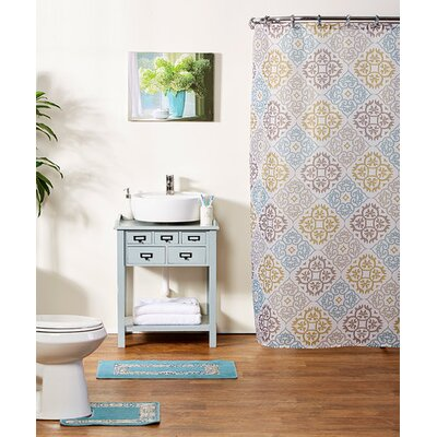 Shari 15-Piece Shower Curtain Set