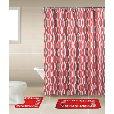 Rosella 15-Piece Shower Curtain Set