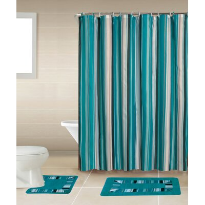 Rosella 15-Piece Shower Curtain Set