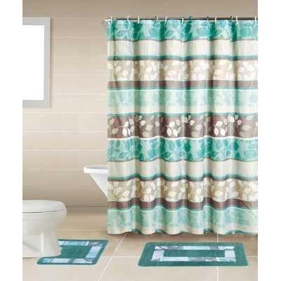 Shaelyn 15-Piece Shower Curtain Set