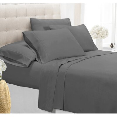 Palmers Sheet Set Size: King, Color: Gray