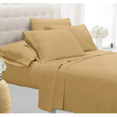 Palmers Sheet Set Color: Gold, Size: Queen