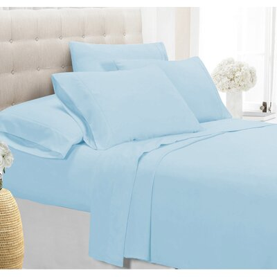 Palmers Sheet Set Size: King, Color: Sky Blue