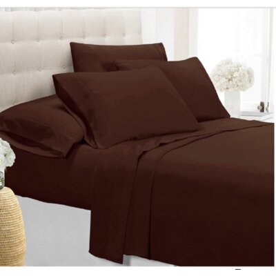 Palmers Sheet Set Color: Chocolate, Size: King