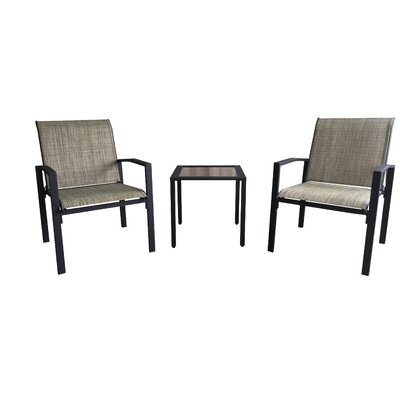 Galveston 3 Piece Dining Set Finish: Brown