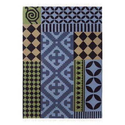Kilim Siracusa Blue Ikat Area Rug Rug Size: 68 x 910