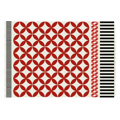 Kilim Catania Red Geometric Area Rug Rug Size: 57 x 711