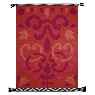 Kilim Rug Rug Size: 411 x 68, Color: Red