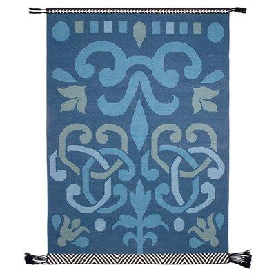 Kilim Rug Rug Size: 68 x 910, Color: Blue