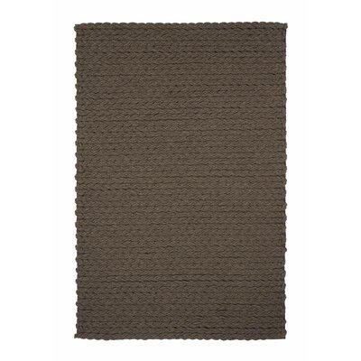 Lana Wool Trenzas Brown Rug Rug Size: 68 x 910