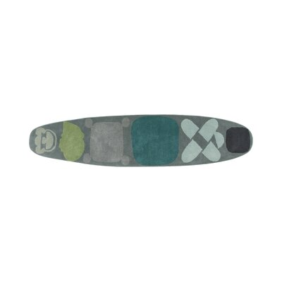Hand Tufted Surf Race Indico Blue Area Rug