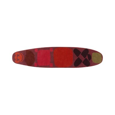 Hand Tufted Surf Race Indico Red Area Rug