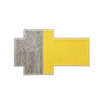 Mangas Space Plait Yellow Area Rug Rug Size: Rectangle 73 x 910