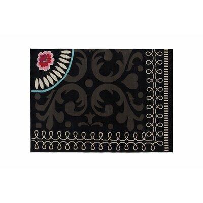 Cedeneta Goyescas Black Area Rug Rug Size: 68 x 910