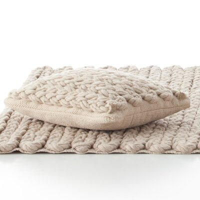 Trenzas Wool Lumbar Pillow Color: Ivory