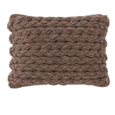 Trenzas Wool Lumbar Pillow Color: Brown