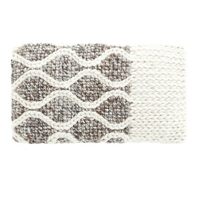 Mangas Space Rhombus Wool Lumbar Pillow Color: Ivory