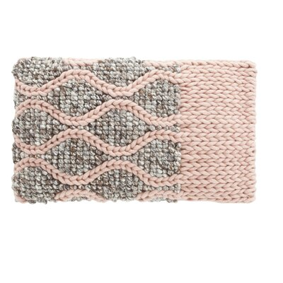 Mangas Space Rhombus Wool Lumbar Pillow Color: Pink
