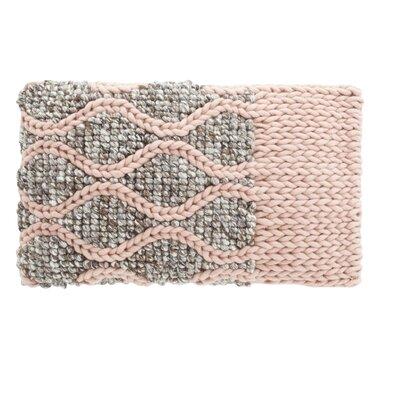 Mangas Space Rhombus Wool Lumbar Pillow Color: Pink