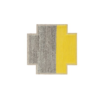 Mangas Space Plait Yellow Area Rug Rug Size: Square 53