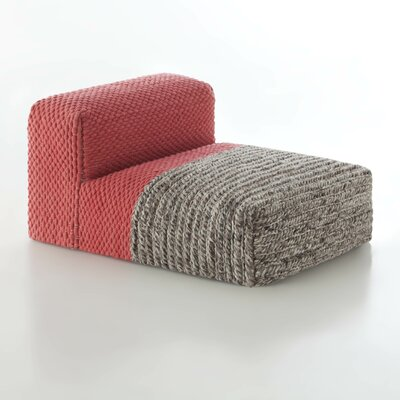 Mangas Space Module Plait Chaise Lounge Upholstery: Coral