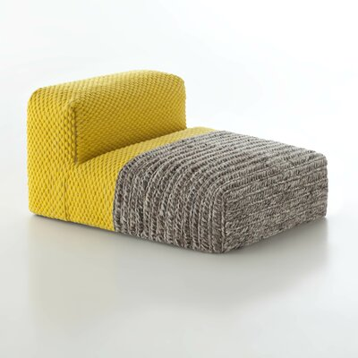 Mangas Chaise Lounge Upholstery: Yellow