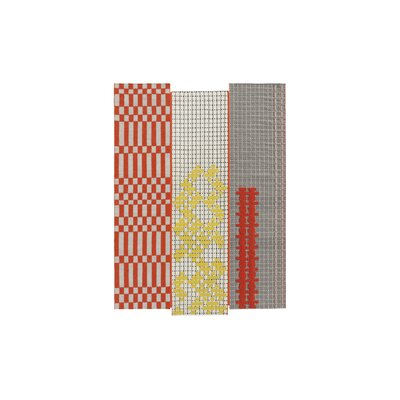 Bandas Space Orange Area Rug