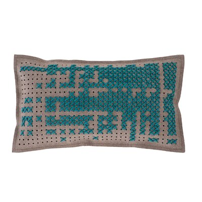 Canevas Lumbar Pillow Size: 15 H x 26 W, Color: Green / Dark Felt