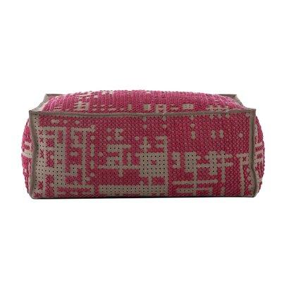 Canevas Soft Abstract Ottoman Upholstery: Dark Pink - Dark Felt