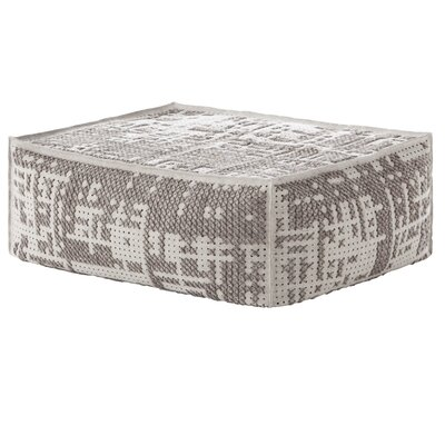 Canevas Soft Abstract Ottoman Upholstery: Silver Light Base