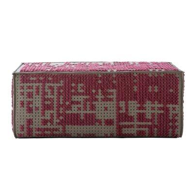 Canevas Modular Abstract Ottoman Upholstery: Dark Pink - Dark Felt