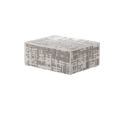 Canevas Modular Abstract Ottoman Upholstery: Silver Light Base