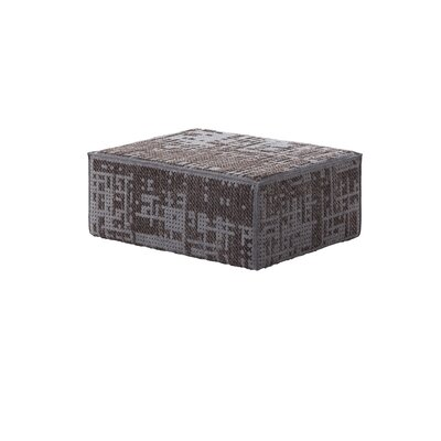 Canevas Modular Abstract Ottoman Upholstery: Charcoal Dark Base Grey