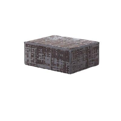 Canevas Ottoman Upholstery: Charcoal Dark Base Grey