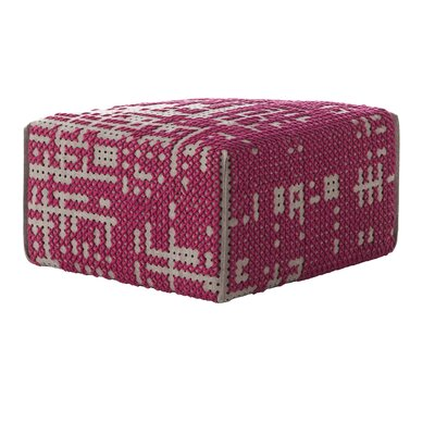 Canevas Square Abstract Ottoman Upholstery: Dark Pink - Dark Felt