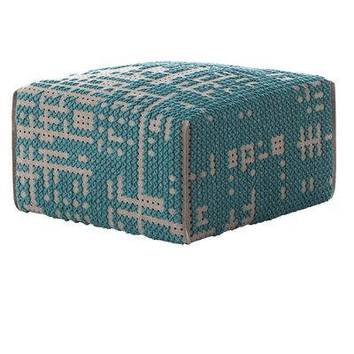 Canevas Square Abstract Ottoman Upholstery: Green - Dark Felt