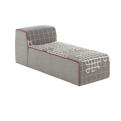 Bandas Space A Chaise Lounge Upholstery: Gray