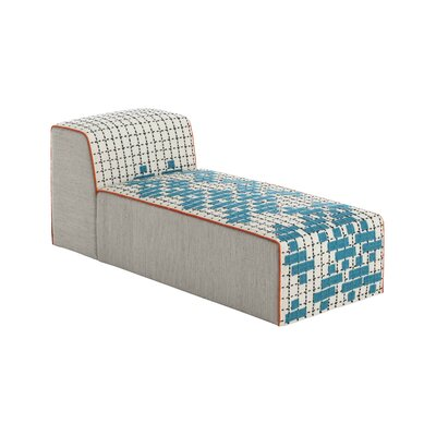 Bandas Chaise Lounge Upholstery: Turquoise