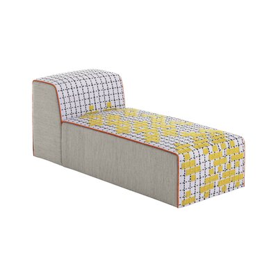 Bandas Space C Chaise Lounge Upholstery: Yellow