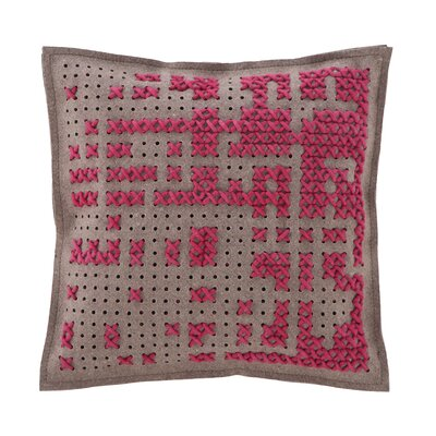 Canevas Wool Throw Pillow Color: Dark Pink / Dark Felt