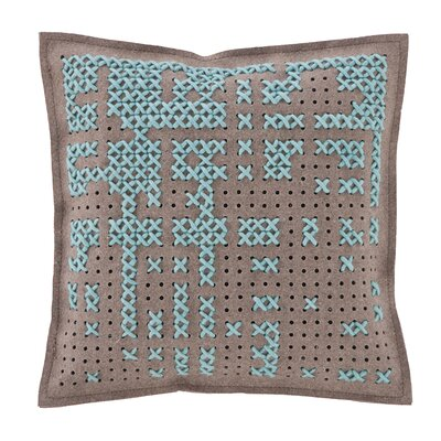 Canevas Wool Throw Pillow Color: Blue / Dark Felt