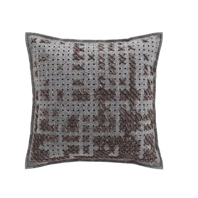 Canevas Wool Throw Pillow Color: Charcoal / Dark Grey