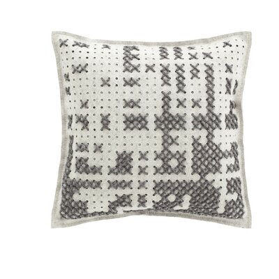 Canevas Wool Throw Pillow Color: Gray / Light Felt