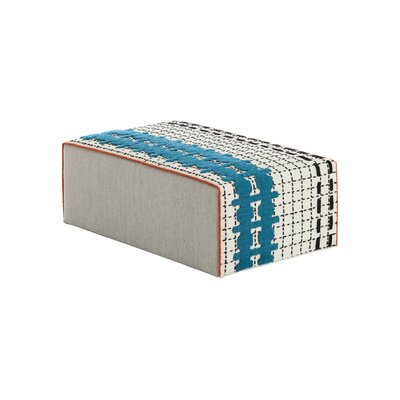 Bandas Space Big E Ottoman Upholstery: White